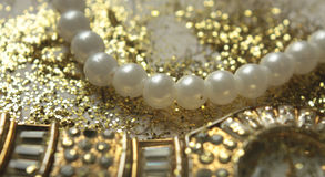 Pearls and Gold Royalty Free Stock Image
