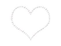 Pearls heart Stock Photos