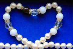 Pearls heart royalty free stock photo