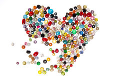 Pearls heart breaking apart. Heart made of pearls breaking apart Stock Photos