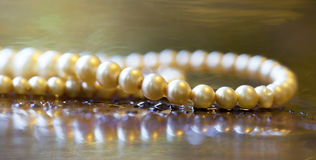 Pearls jewelry banner Royalty Free Stock Photography