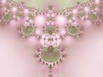 Pearls Lace Fractal Necklace  Stock Image
