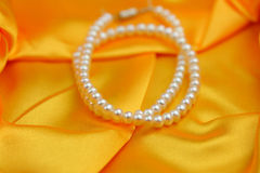 Pearls necklace Stock Photo