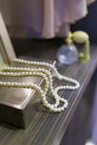 Pearls necklace accessory Royalty Free Stock Image