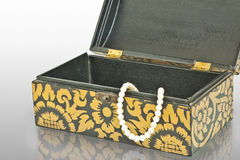 Pearls necklace in the box Royalty Free Stock Photo