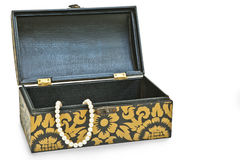 Pearls necklace in the box Royalty Free Stock Images