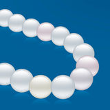 Pearls necklace close-up Royalty Free Stock Photos