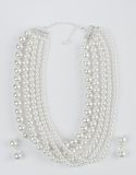 Pearls necklace with earrings Royalty Free Stock Image