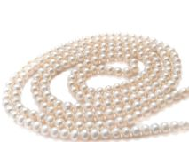 Pearls necklace jewelry Royalty Free Stock Photos