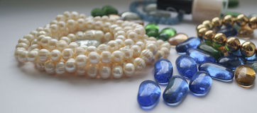 Pearls necklaces Stock Photography