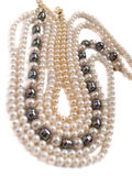 Pearls necklaces jewelry Stock Images