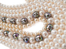 Pearls necklaces jewelry Royalty Free Stock Photo