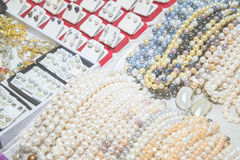 Pearls, pearl jewelry stores Stock Photography