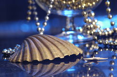 Pearls and the shell royalty free stock images