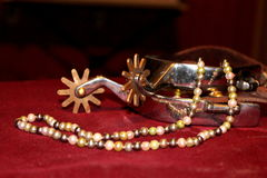 Pearls and Spurs Royalty Free Stock Photos