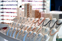 Pearls and Sunglasses for Sale Stock Photo