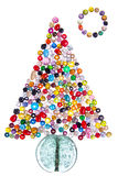 Pearls tree. Christmas tree and moon made of pearls Stock Photo