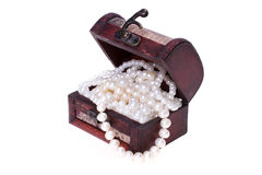 Pearls in trunk Royalty Free Stock Photo