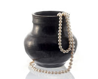 Pearls and vase Stock Photos