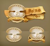 Pearls vector icons Stock Photo