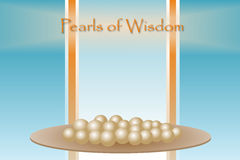 Pearls of Wisdom. A  graphic ready for your own pearls of wisdom to be inserted Royalty Free Stock Photo