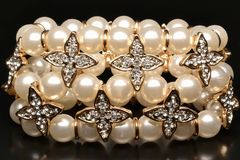Pearlsbracelet Stock Photo