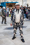 Pearly King, London. Royalty Free Stock Photo