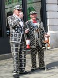 Pearly Kings. London, England, UK – April 19, 2009. Pearly Kings collecting for charity in Covent garden Stock Image