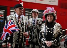 Pearly kings and queens Stock Photos