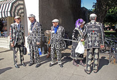 Pearly kings and queens Royalty Free Stock Photos