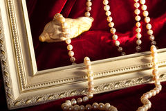 Pearly necklace Royalty Free Stock Photos