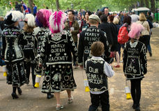 Pearly Queen and Family at the Royal Wedding Stock Photo
