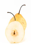 Pears. Tasty ripe yellow isolated pears Royalty Free Stock Image