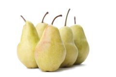 Pears. A few yellow pears on a white background Stock Photo