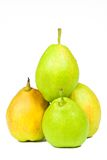 Pears. Fresh pears on white background Stock Photography