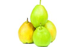 Pears. Fresh pears on white background Stock Images