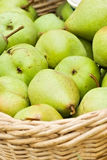 Pears. Rich harvest. two baskets with plenty of pear Royalty Free Stock Photo