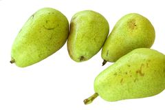 Pears. Isolated on white background Royalty Free Stock Photography