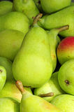 Pears. Some green pears ready to sell in a market stock photos