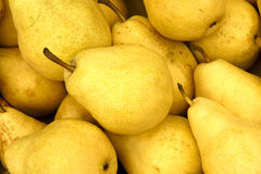 Pears. The backrgound of many pears Stock Photography