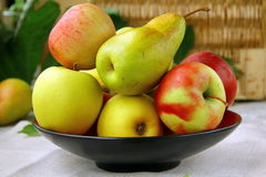 Pears. Beautiful ripe pears on a wooden table stock photos