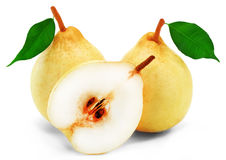 Pears. Pear on white background ripe fruit Stock Image