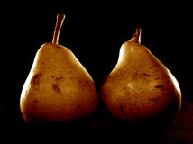 Pears. 2 pears royalty free stock images