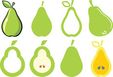 Pears. Set of pears illustration and symbols Stock Photography