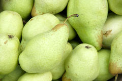 Pears. The close-up of fresh pears Stock Photos