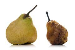Pears. Isolated pears over white background Stock Images