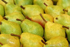 Pears. Ripe pears at the greengrocer royalty free stock photography