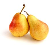 Pears. Two pears over white background Stock Image