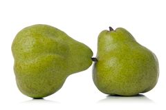 Pears. Two pears isolated over white background Stock Photography