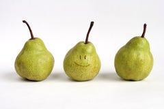 Pears. Three pears royalty free stock photo